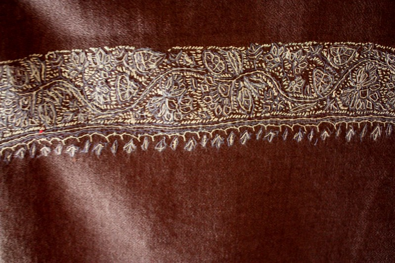 India Hand Stitching on Pashmina