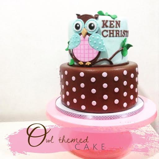 Owl Themed Cake by Tootie Mariano & Margie Mariano of Tootie Cupcakes