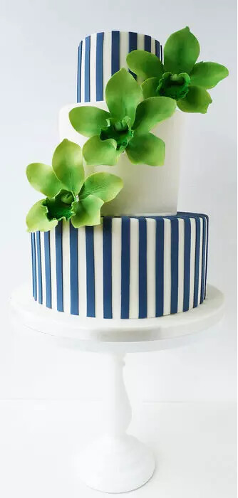 Luisa Galuppo Inspired Cake using the Blue Stripes by Little Miss Fairy Cake