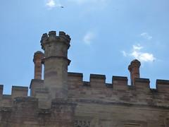 Hampton Court Castle Gardens & Parkland - the castle - inner courtyard - chimneys