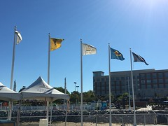Flags at the National Harbor