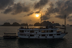 Halong Bay - Sunset in the paradise