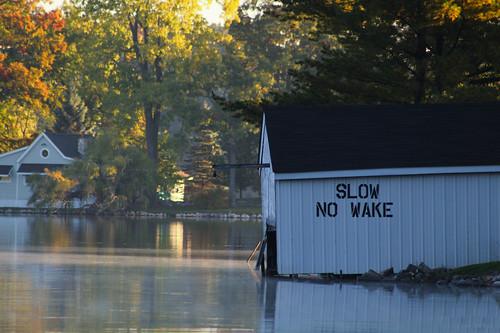 lakewaterautumnfallbuildingsigntreessunrise