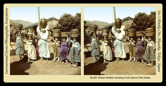 JUST ANOTHER DAY FOR WORKING-CLASS CHILDREN in OLD KOREA -- 1908