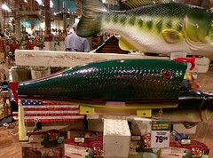 Fishy mailboxes at Bass Pro at the Pyramid