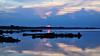 Reflection at dusk