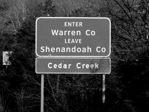road county signs sign creek virginia highway view ben web north system clear va cedar signage highways warren interstate roads shenandoah signing 81 northbound clearview i81 schumin schuminweb