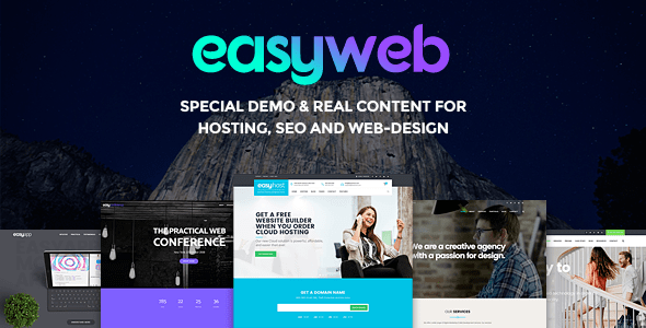 EasyWeb v2.1.5 - WP Theme For Hosting, SEO and Web-design Agencies
