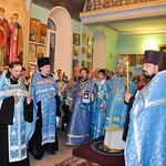 Богослужение в канун праздника Покрова Пресвятой Богородицы в Геленджике
