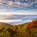 North Carolina Autumn Sunrise Blue Ridge Parkway NC by Dave Allen Photography