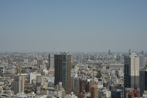 The view from the NIKON Shinjuku service center(Before LPF cleaning)