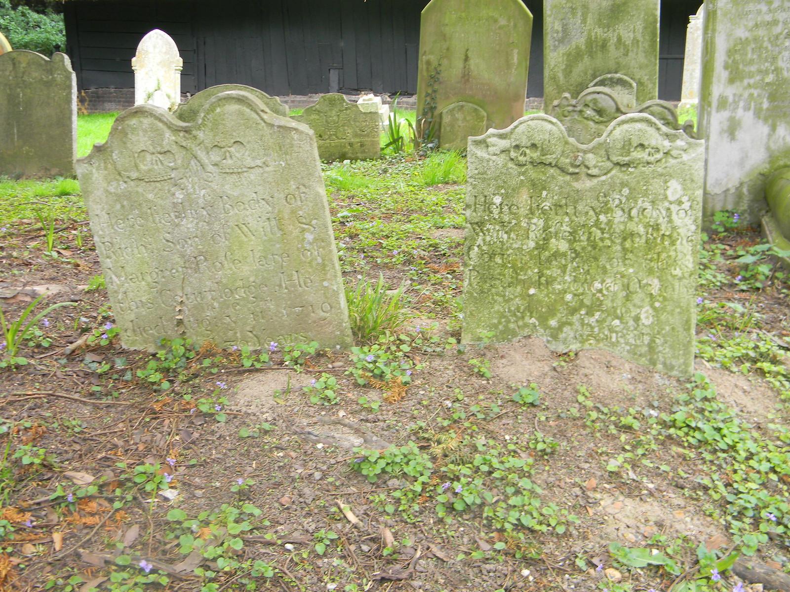 Old gravestones Littlebourne Bekesbourne Circular