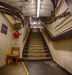 Some of RAF Uxbridge Battle of Britain bunker 76 stairs