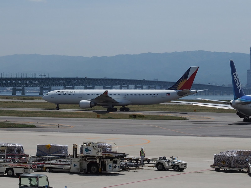Philippine Airlines A330 in Kansai International Airport