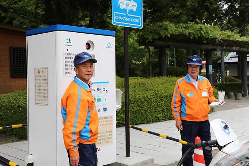 恩賜箱根公園駐車場で急速充電
