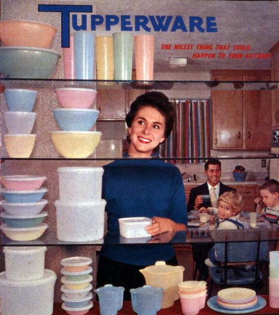 Tupperware advertisement featuring a Joe Steinmetz photograph