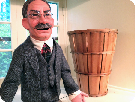 Puppet version of Dr. Naismith, inventor of basketball