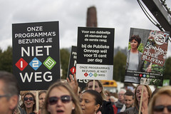 Protesteren op het Malieveld in Den Haag (Foto's: © Michel Schnater)