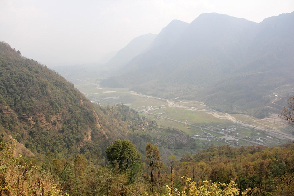Beginning the Poon Hill trek in Nepal