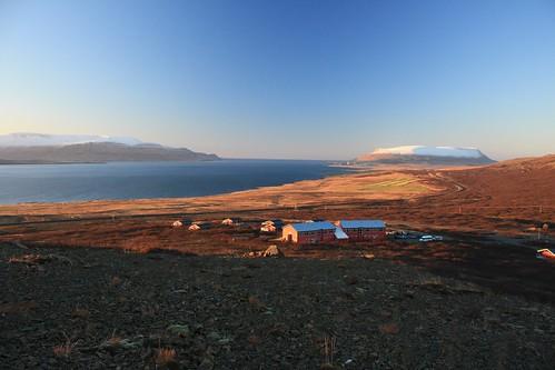 sunrise iceland hvalfjörður hotelglymur