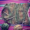 tejiendo bufanda