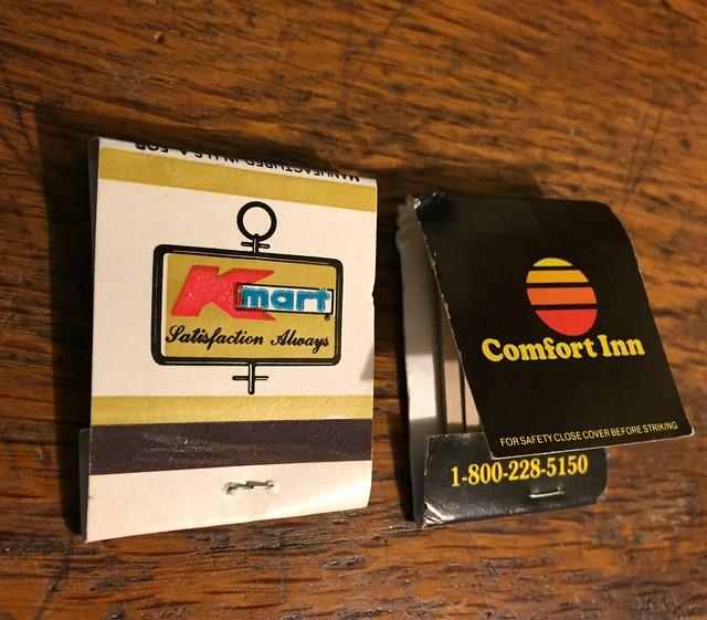 80s logo matches Kmart & Comfort Inn