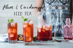 Plum and Cardamom Iced Tea