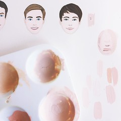 Skin tones and faces.