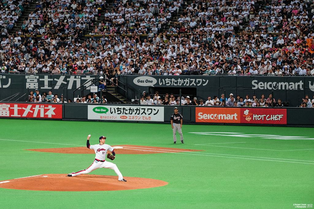 投手丘上的大谷翔平 │ 札幌巨蛋