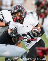 Stevens' Doryen Littlejohn (22) finds a hole in Clarks defense during a high school football game at Farris Stadium in San Antonio, Texas Thursday, September 29, 2016. #ok3sports #nikonphotography #sportsphotography #txhsfb