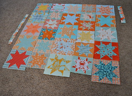 star quilt progress
