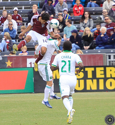 Tony Cascio (Rapids), Diego Chara (Timbers), Ben Zemanski (Timbers), Colorado Rapids Host Portland Timbers at Dick's Sporting Goods Park Colorado by Corbin Elliott Photography