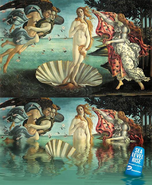 Birth of Venus on sea level rise