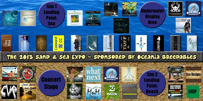 2013 Sand & Sea Expo Map