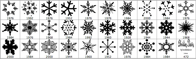 snowflake-brushes