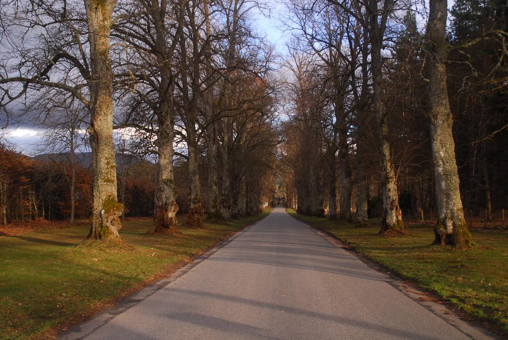 Blair Atholl Castle driveway