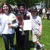 Graduating Amanda, w/ Gwynneth and Owain.