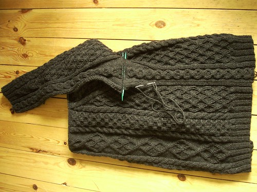 Aranish sweater progress by Asplund