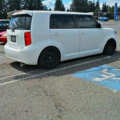 automobile, automotive exterior, sport utility vehicle, wheel, vehicle, rim, scion, scion xb, bumper, land vehicle, luxury vehicle,