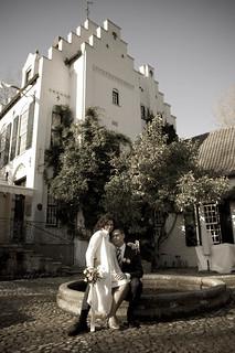 Voor het kasteel