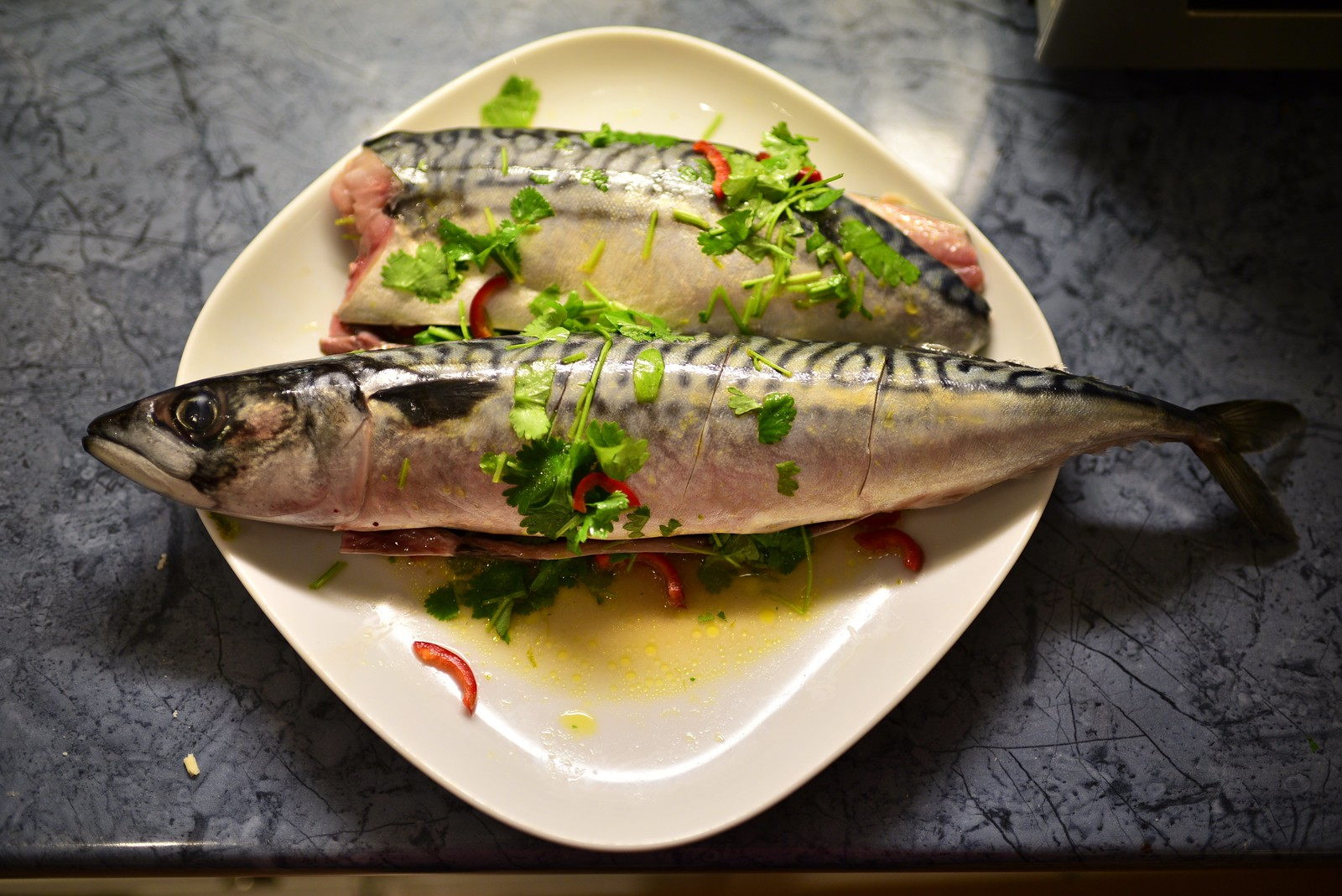 Marinading Mackerel