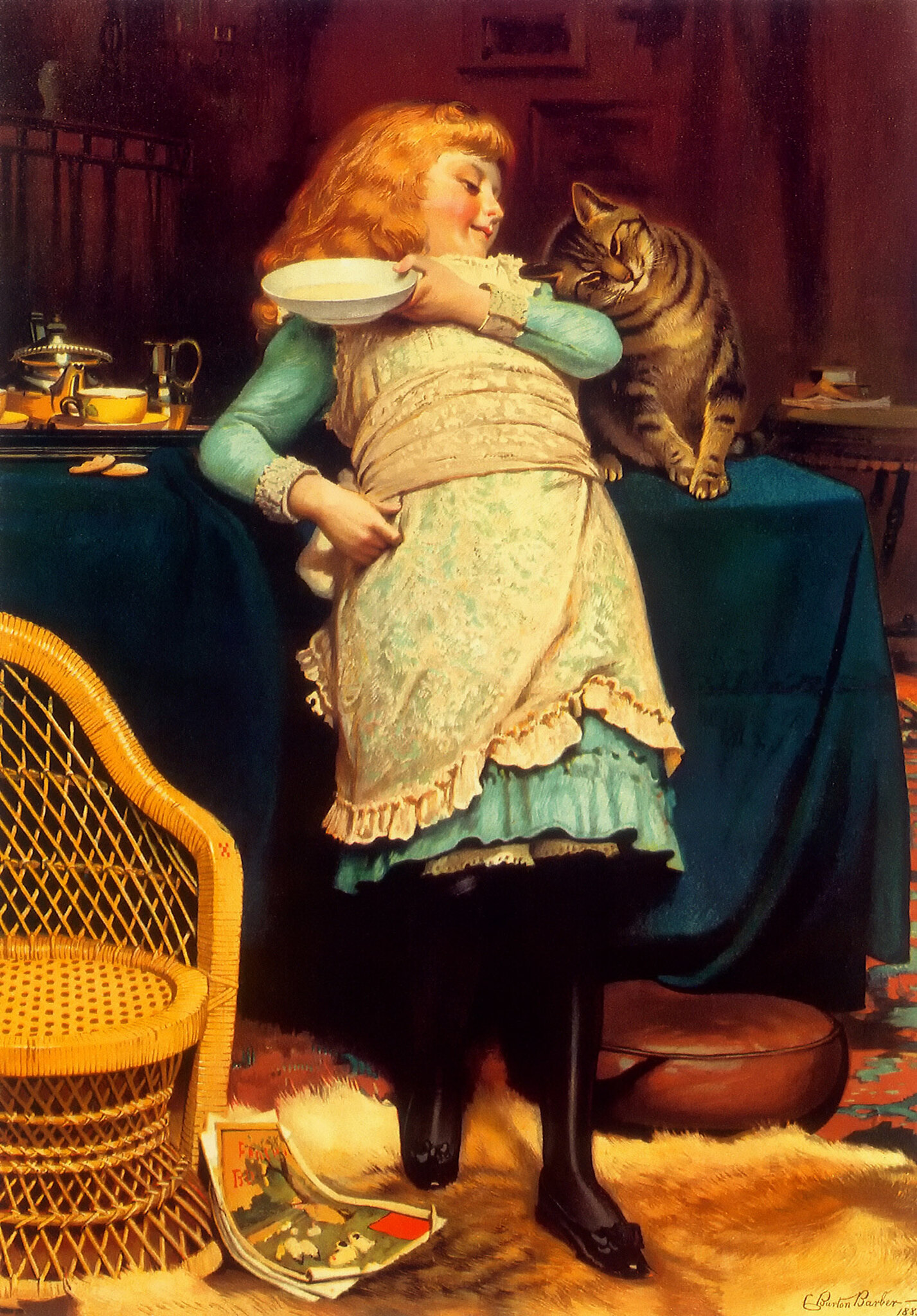 Coaxing Is Better by Charles Burton Barber