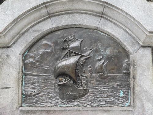 Punta Arenas: la Plaza de Armas et sa statue de Magellan