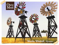 Wooden Windmill CHEZ MOI