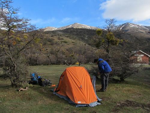 Torres del Paine: trek du W. Jour 1: camping Torres Central.