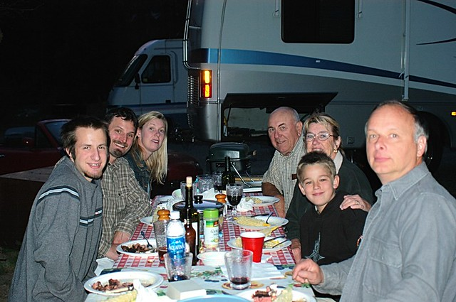 Dinner time at Wawona Campground