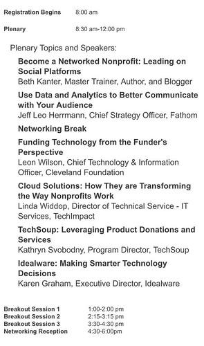 September 30, 2016 - BVU Nonprofit Technology & Communications Summit