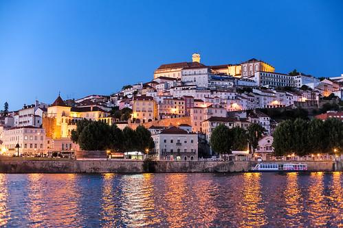 city sunset portugal canon river town tramonto sonnenuntergang fiume stadt 5d fluss coimbra città portogallo mondego