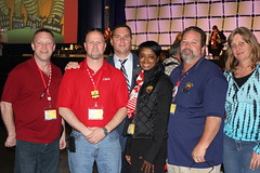 VP Ed Mooney and Local 2222 at the CWA 74th Convention.