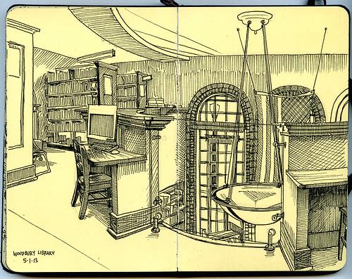 Woodbury Library mezzanine